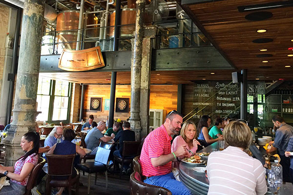 Southerleigh Fine Food & Brewery in San Antonio, Texas.