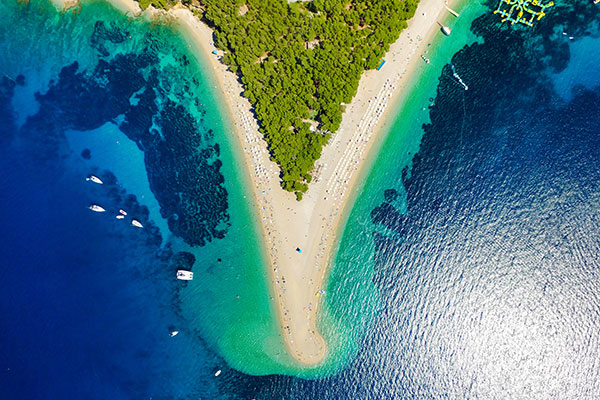 Zlatni Rat near the village of Bol on the island of Brac in Croatia.