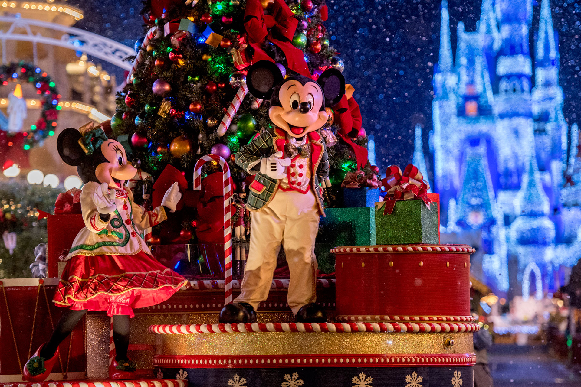 Mickey's Once Upon a Christmastime Parade in Orlando, Florida.