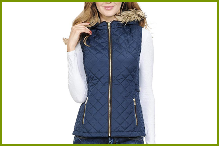 Auline Collection Women's Quilted Vest; Courtesy of Amazon