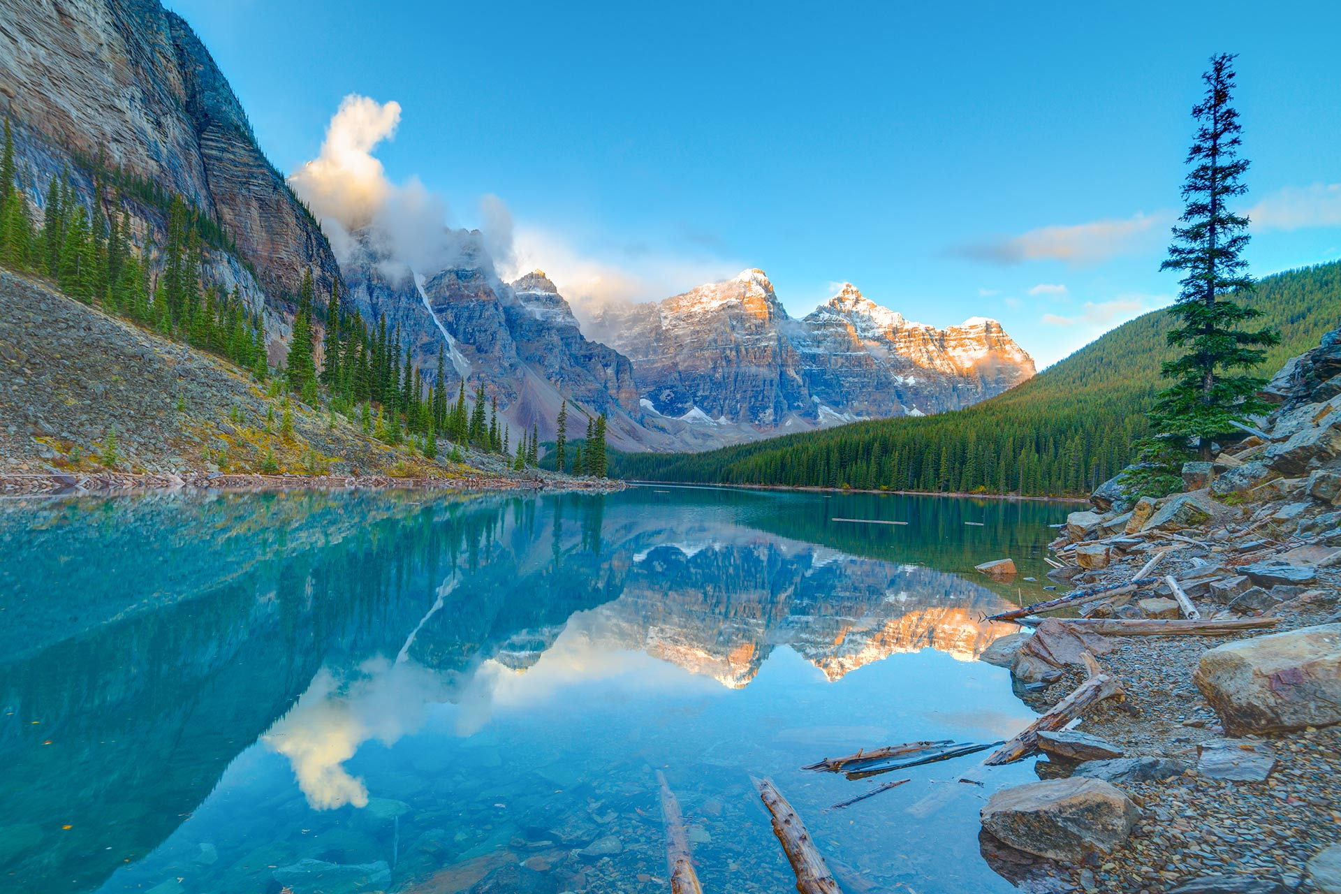Banff National Park in Canada.