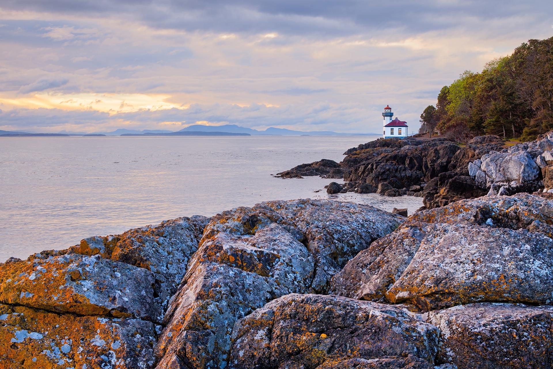 Lime Kiln Lighthouse on San Juan Island, Washington.