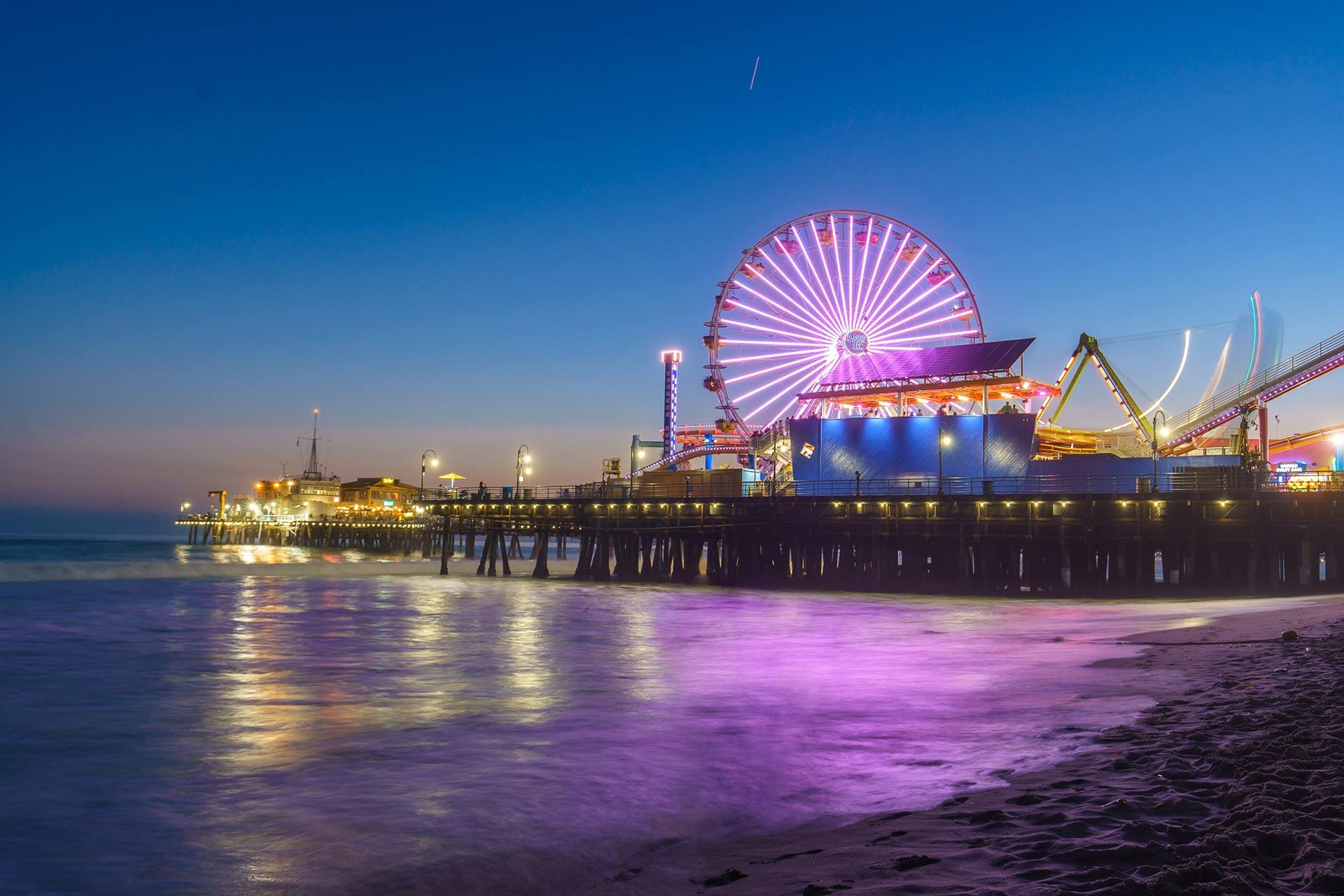 Santa Monica Pier in California.