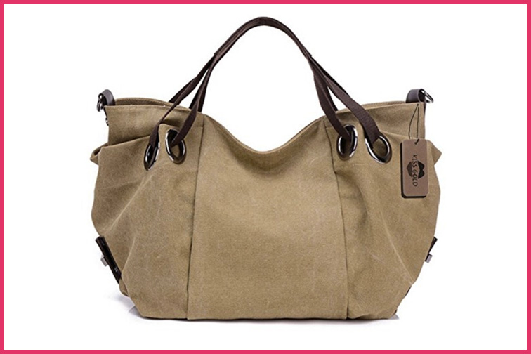 Travel Purse Kiss Gold Woman's Canvas Hobo; Courtesy of Amazon