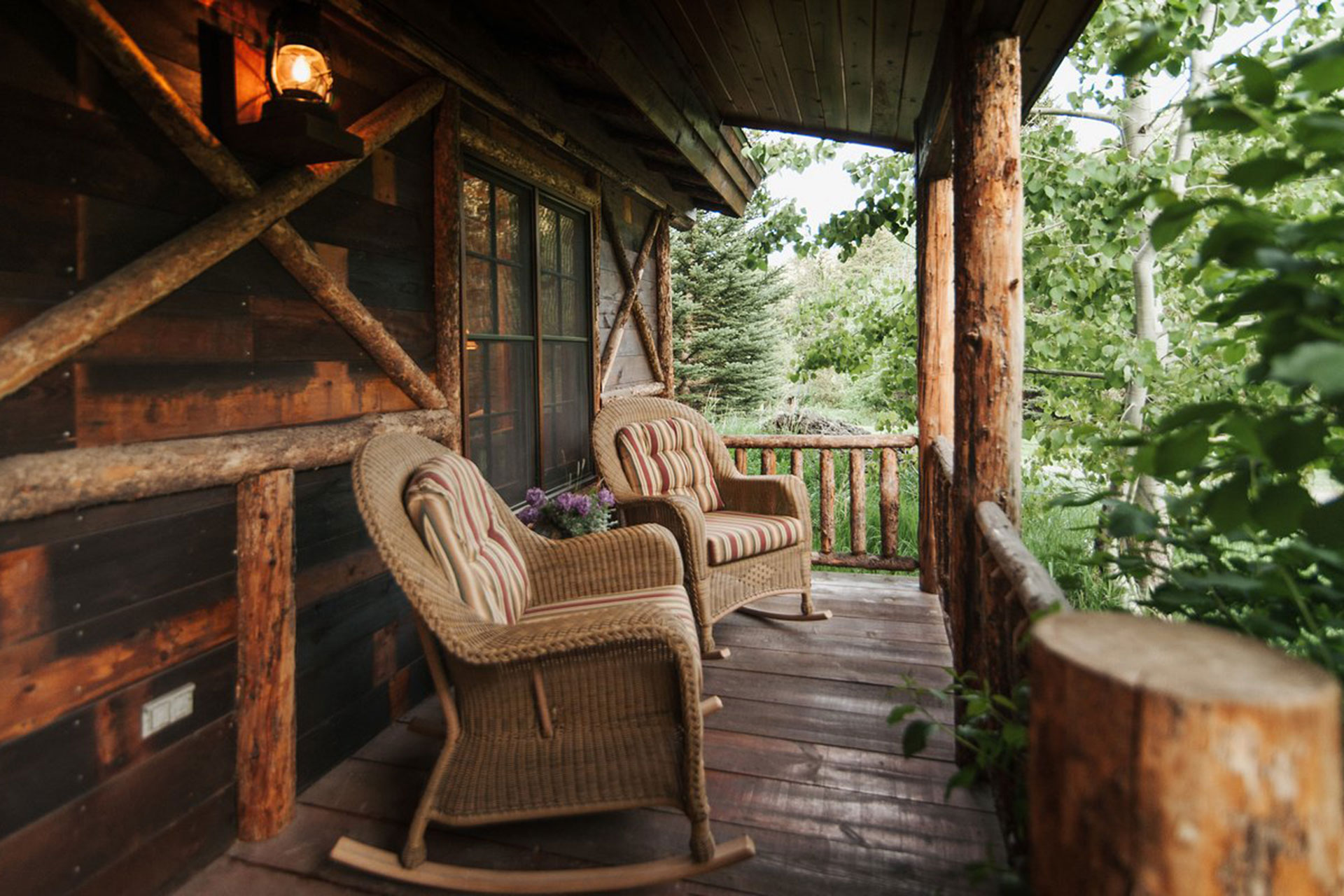 Cabin Porch at Mountain Sky Guest Ranch