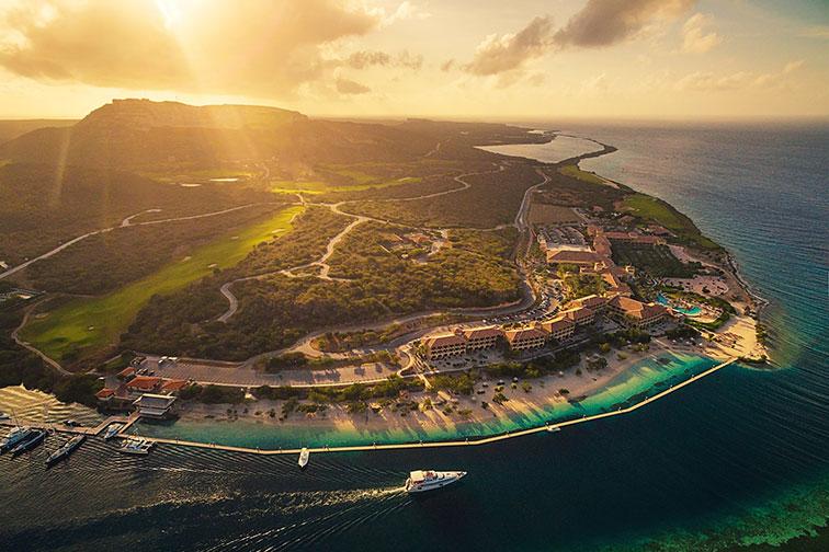 Aerial View of Santa Barbara Beach and Golf Resort in Curacao