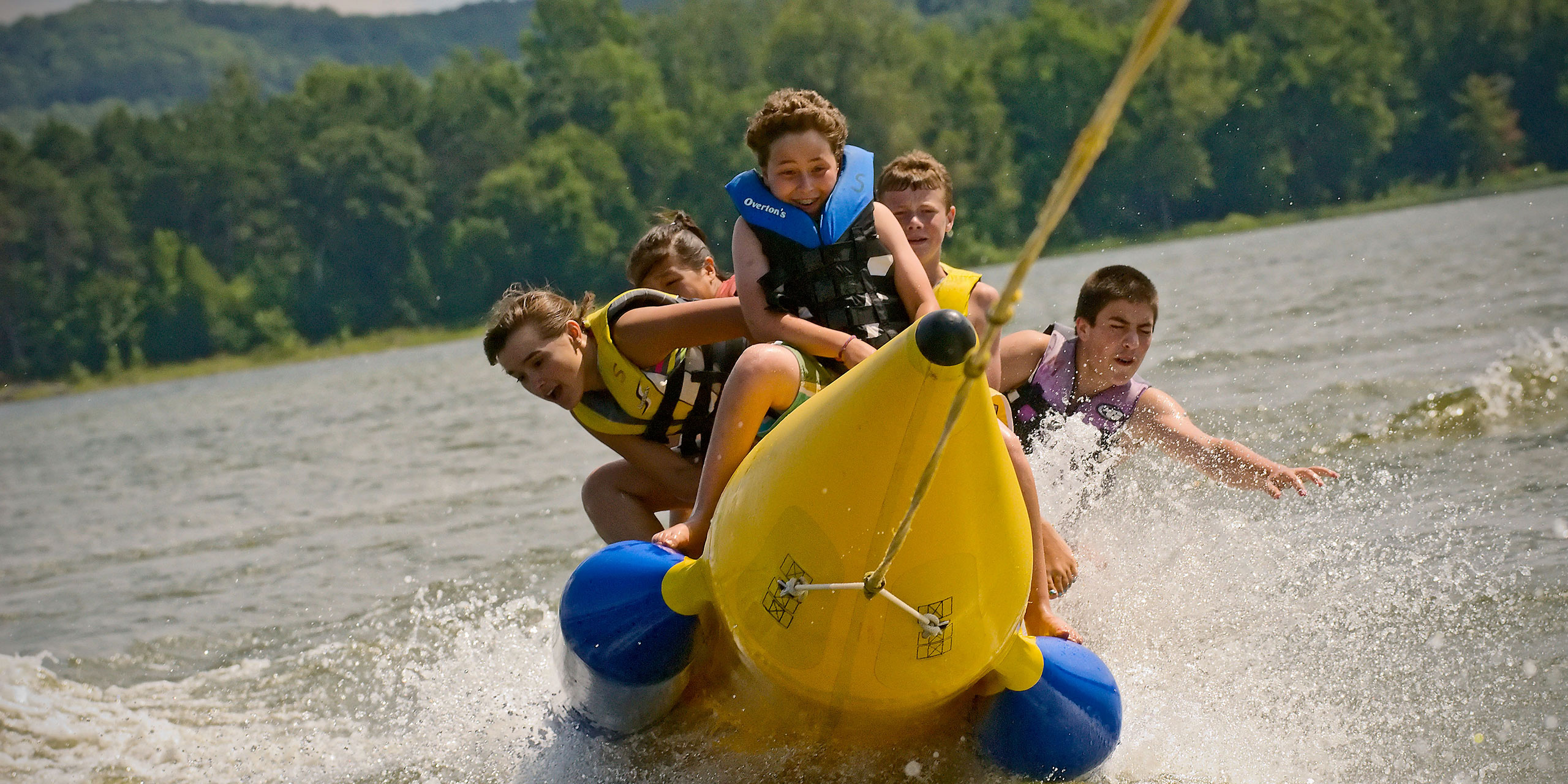 Banana Boating at Tyler Place Family Resort; Courtesy of Tyler Place Family Resort