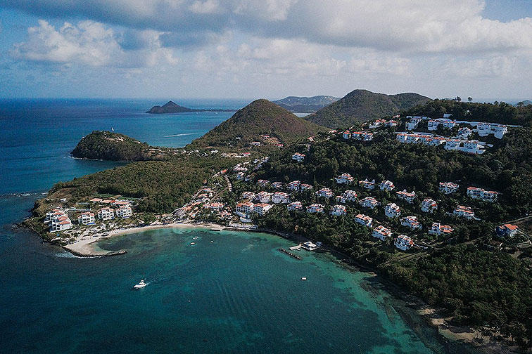 Aerial View of Windjammer Landing in St. Lucia