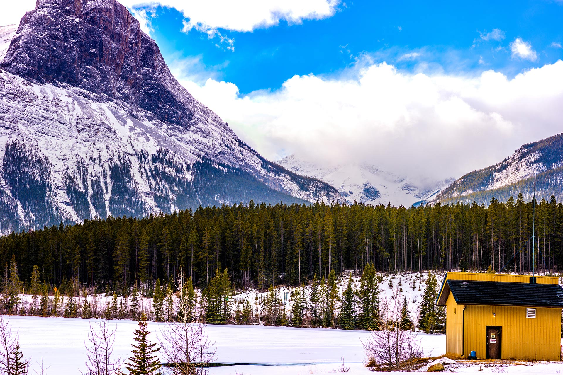Banff National Park in Canada in the winter.