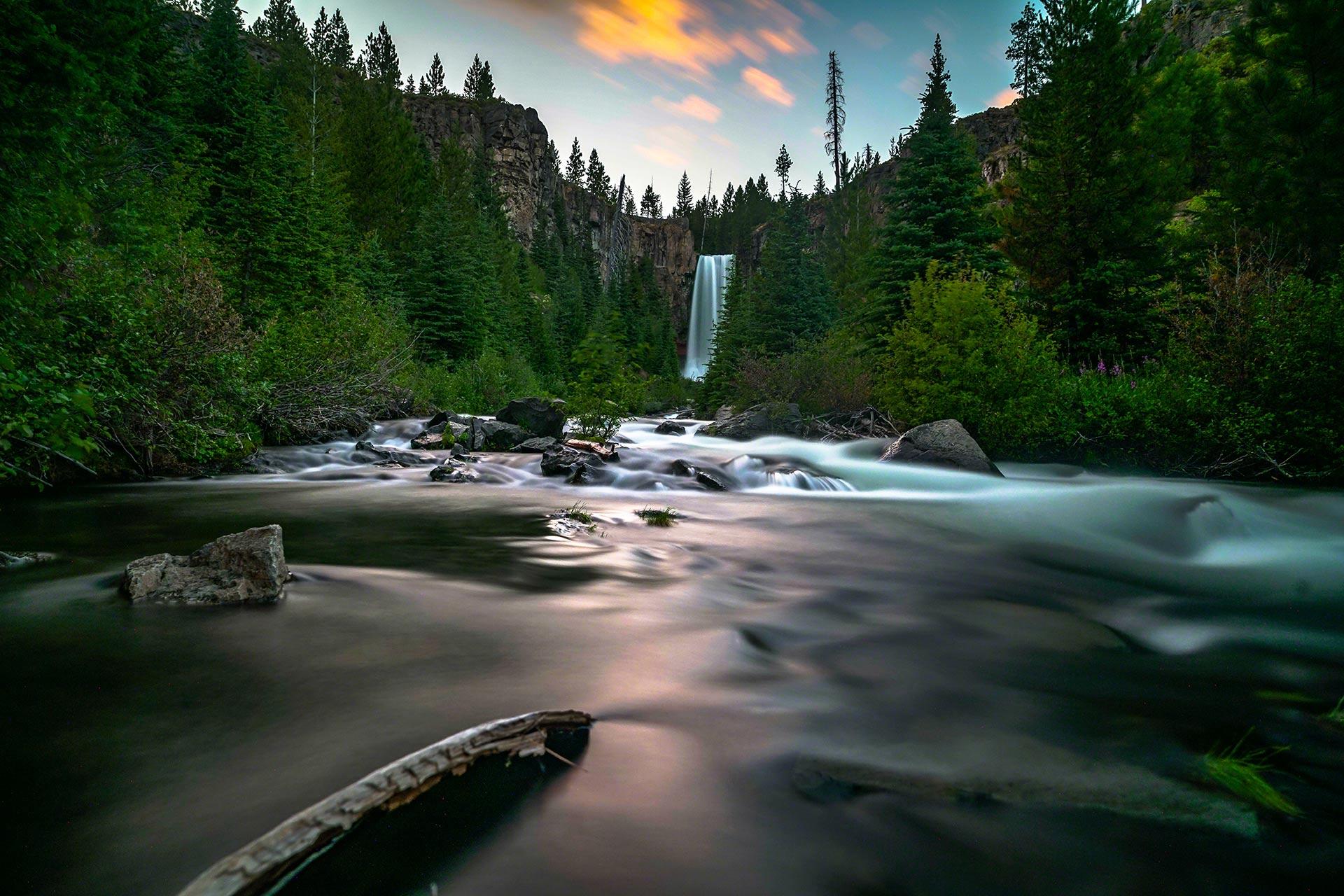 Waterfalls in Bend, Oregon.