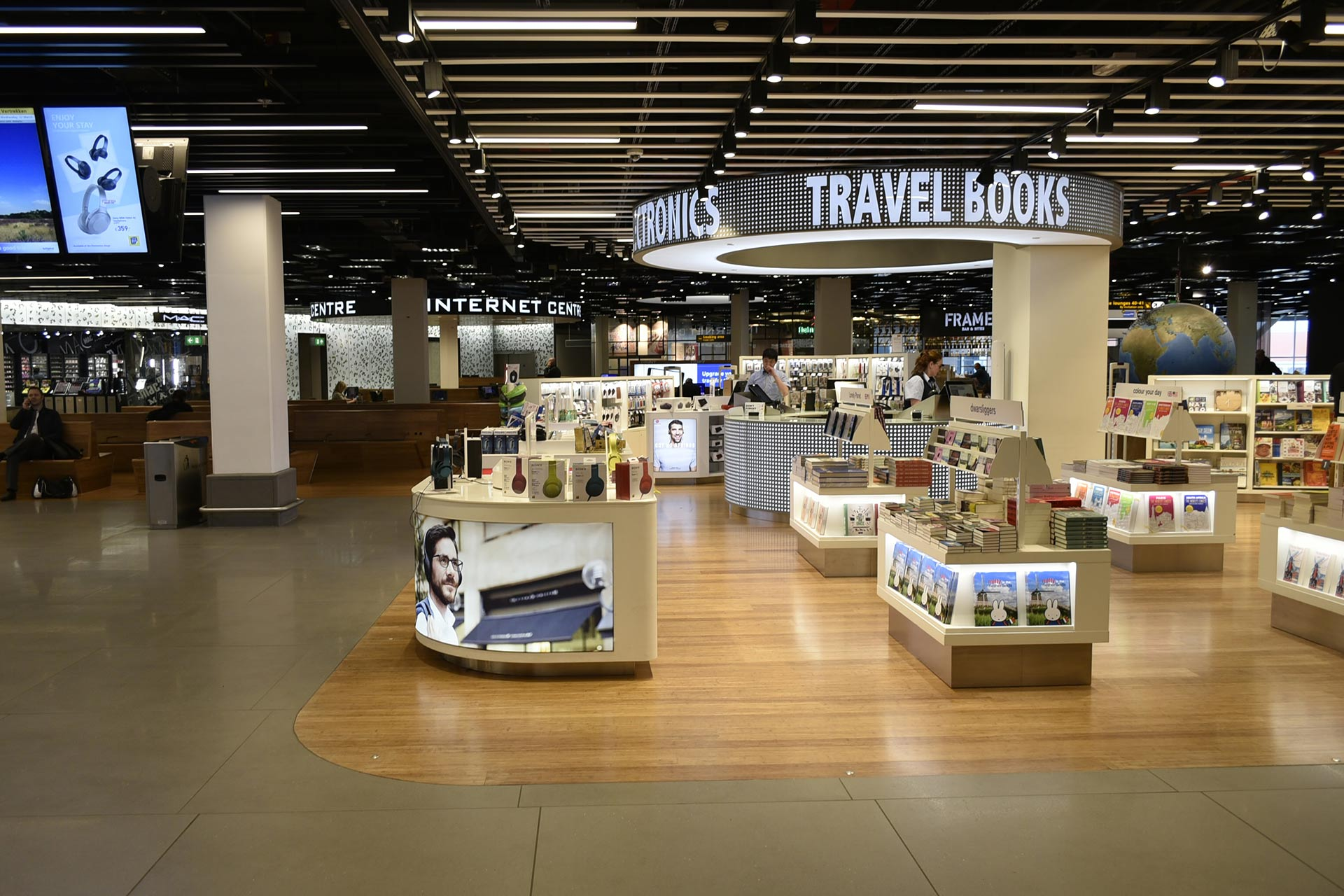 Library at Schipol Amsterdam Airport.
