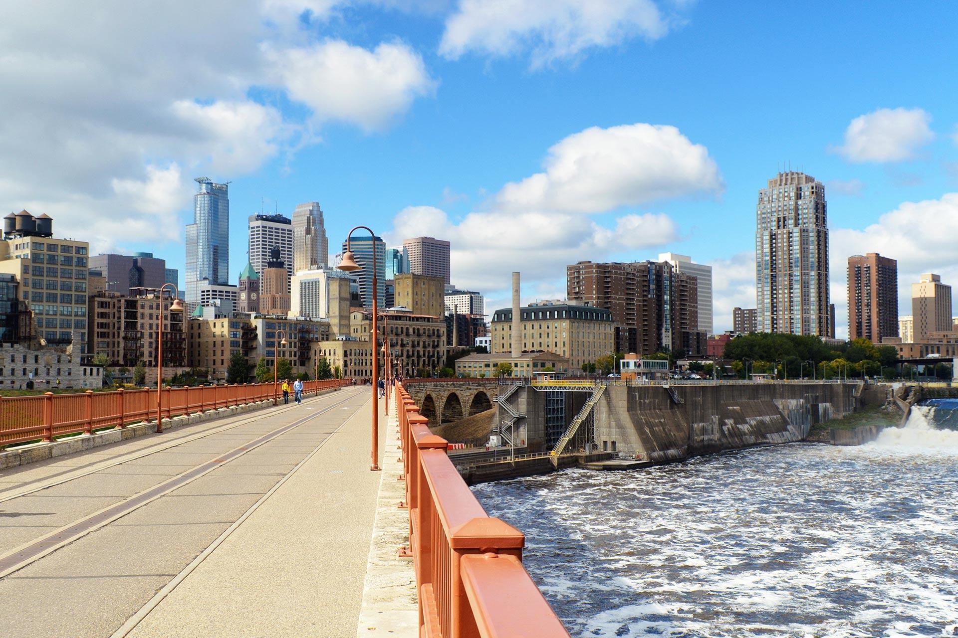 Downtown Minneapolis, Minnesota.