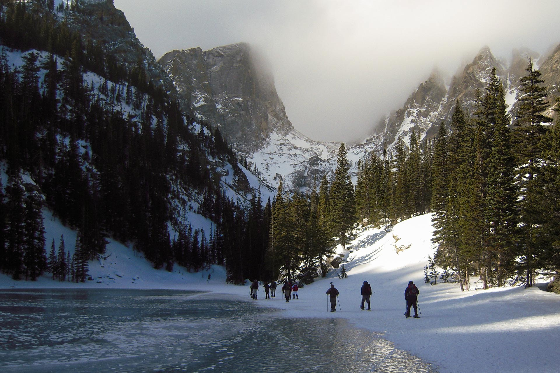 Rocky Mountain National Park during the winter months.