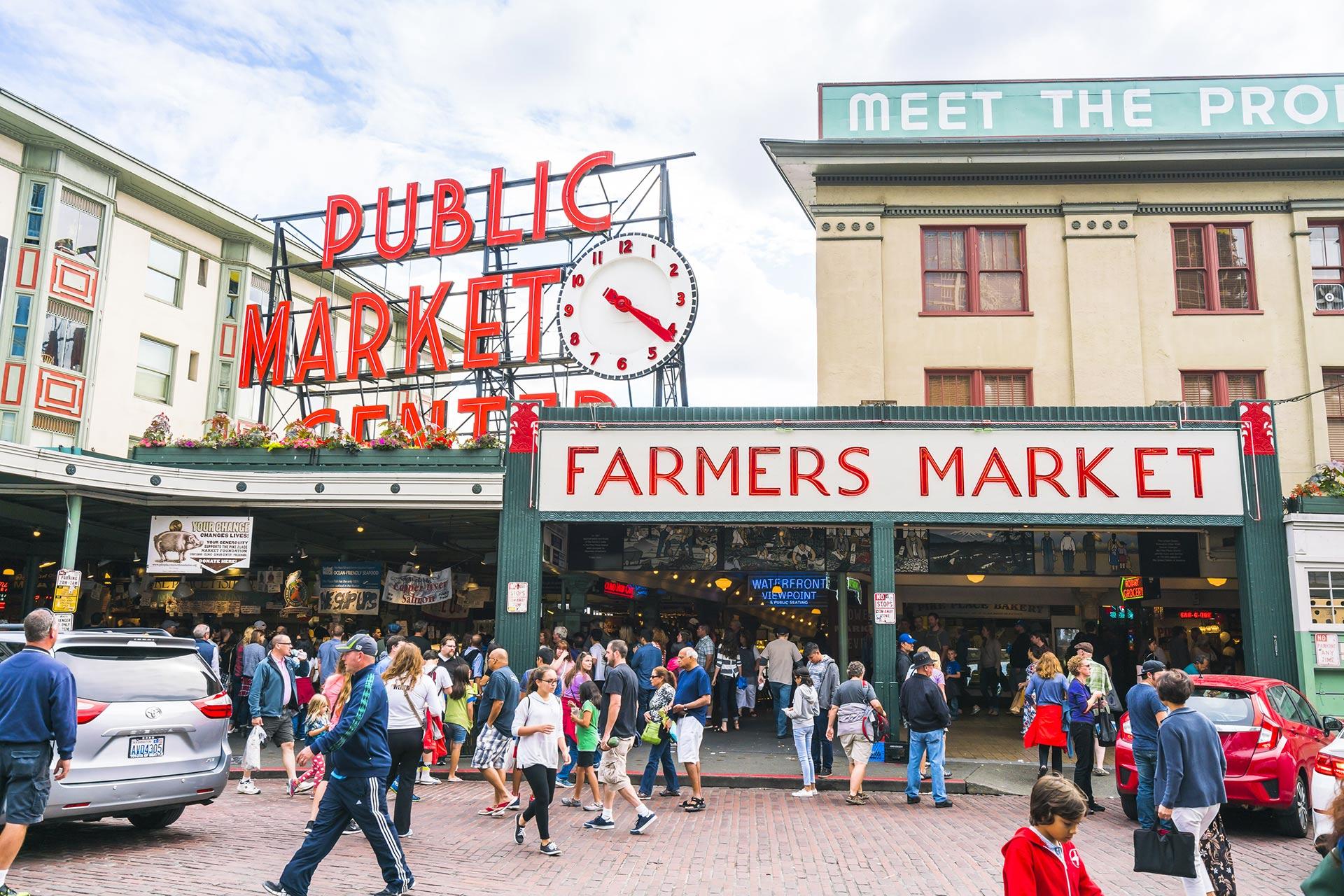 Pike Place Market in Seattle, Washington.