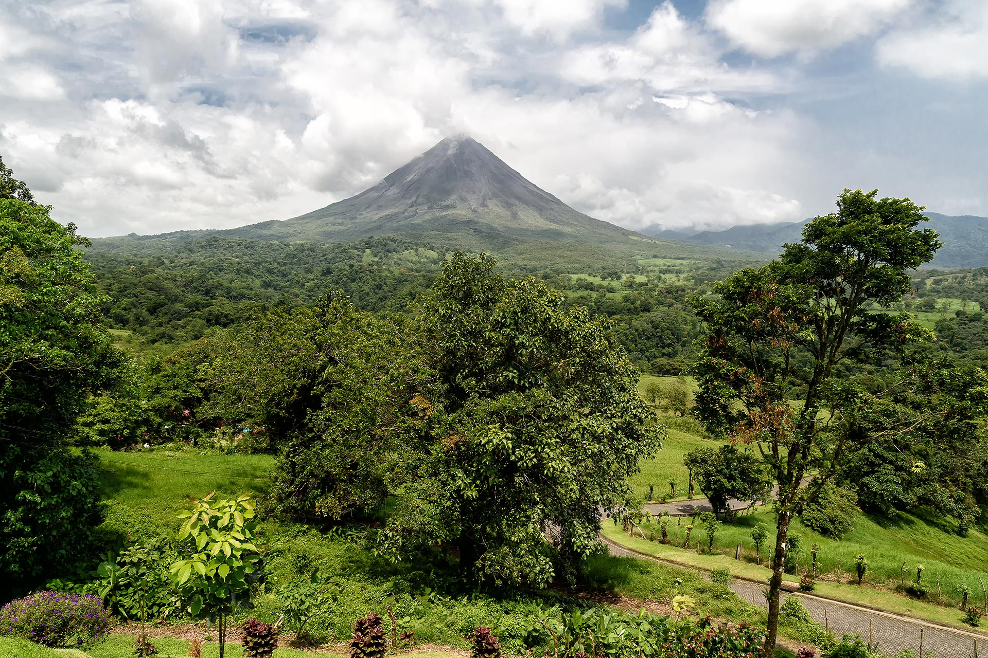 Volcano Arenal in Costa Rica.