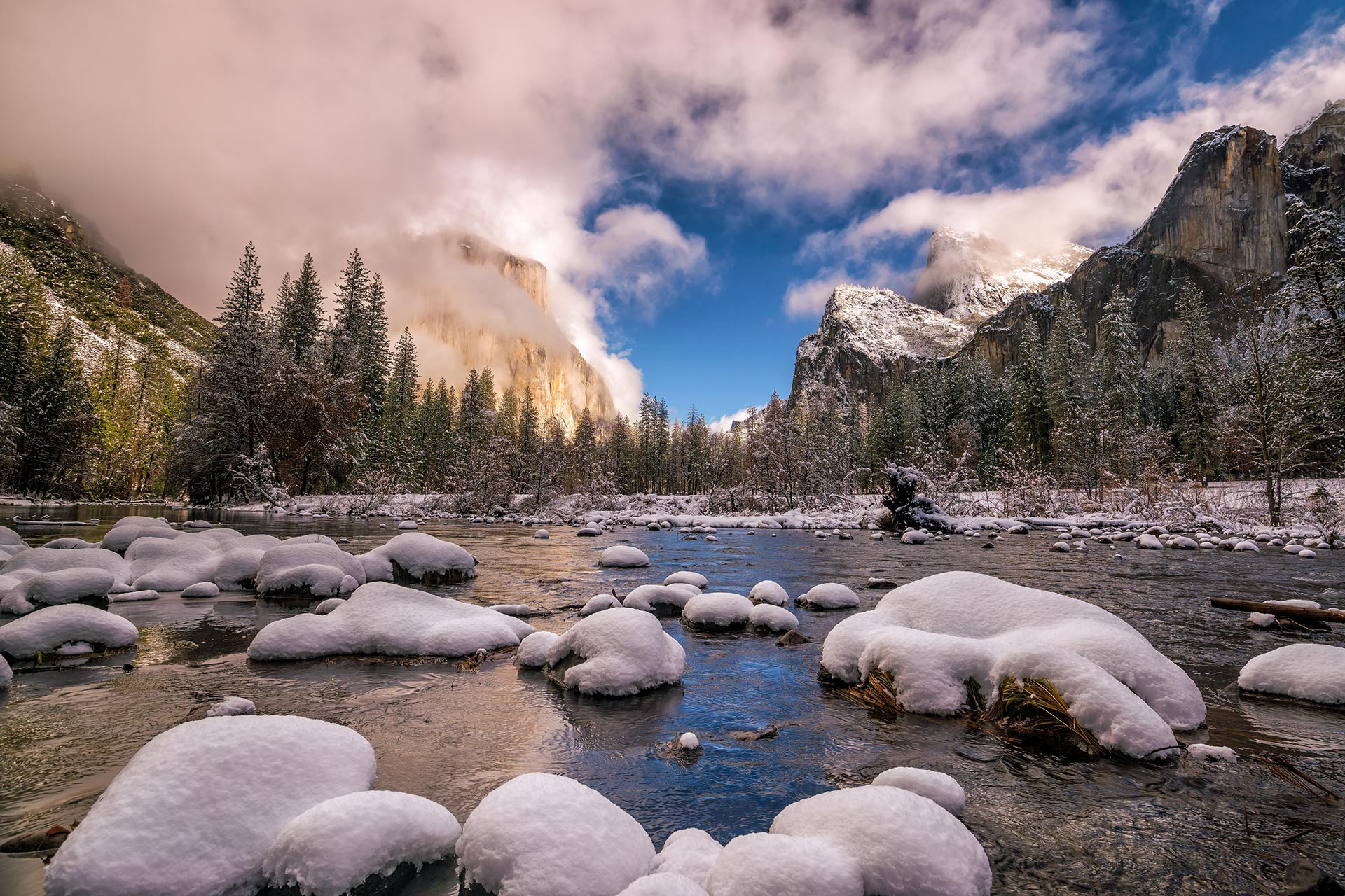 Yosemite National Park in the winter.