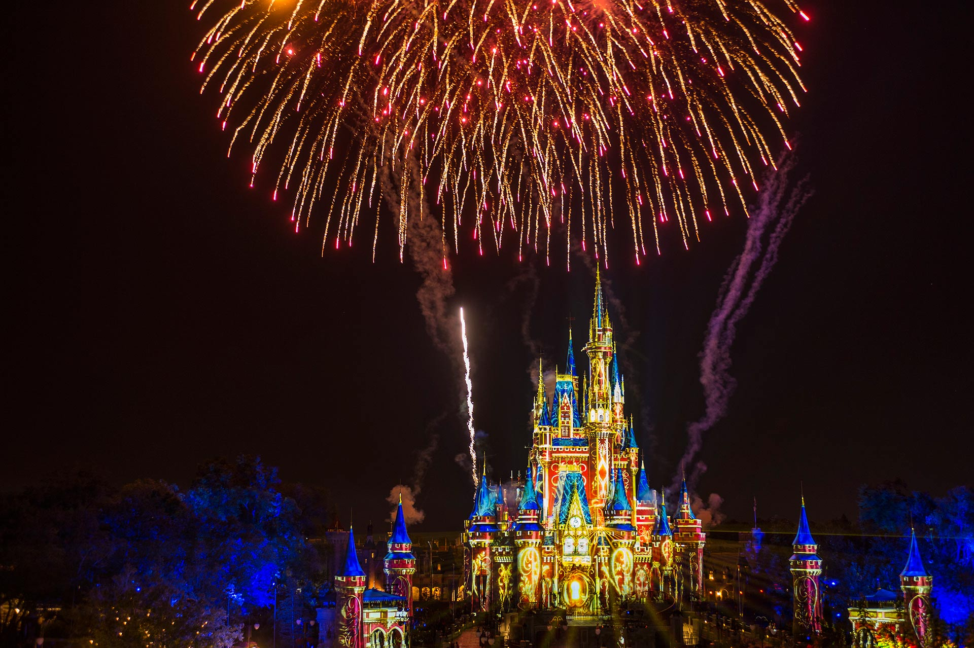 Happily Ever After at Magic Kingdom Park, Disney World.