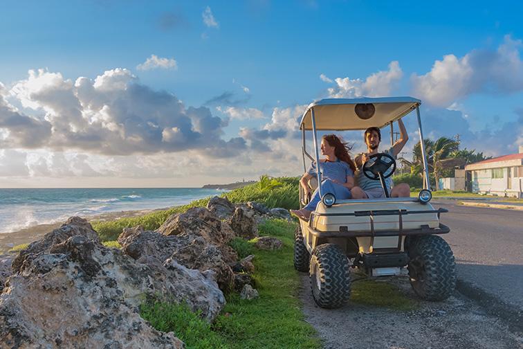 isla mujeres mexico gold cart; Courtesy of  By Byelikova Oksana /Shutterstock