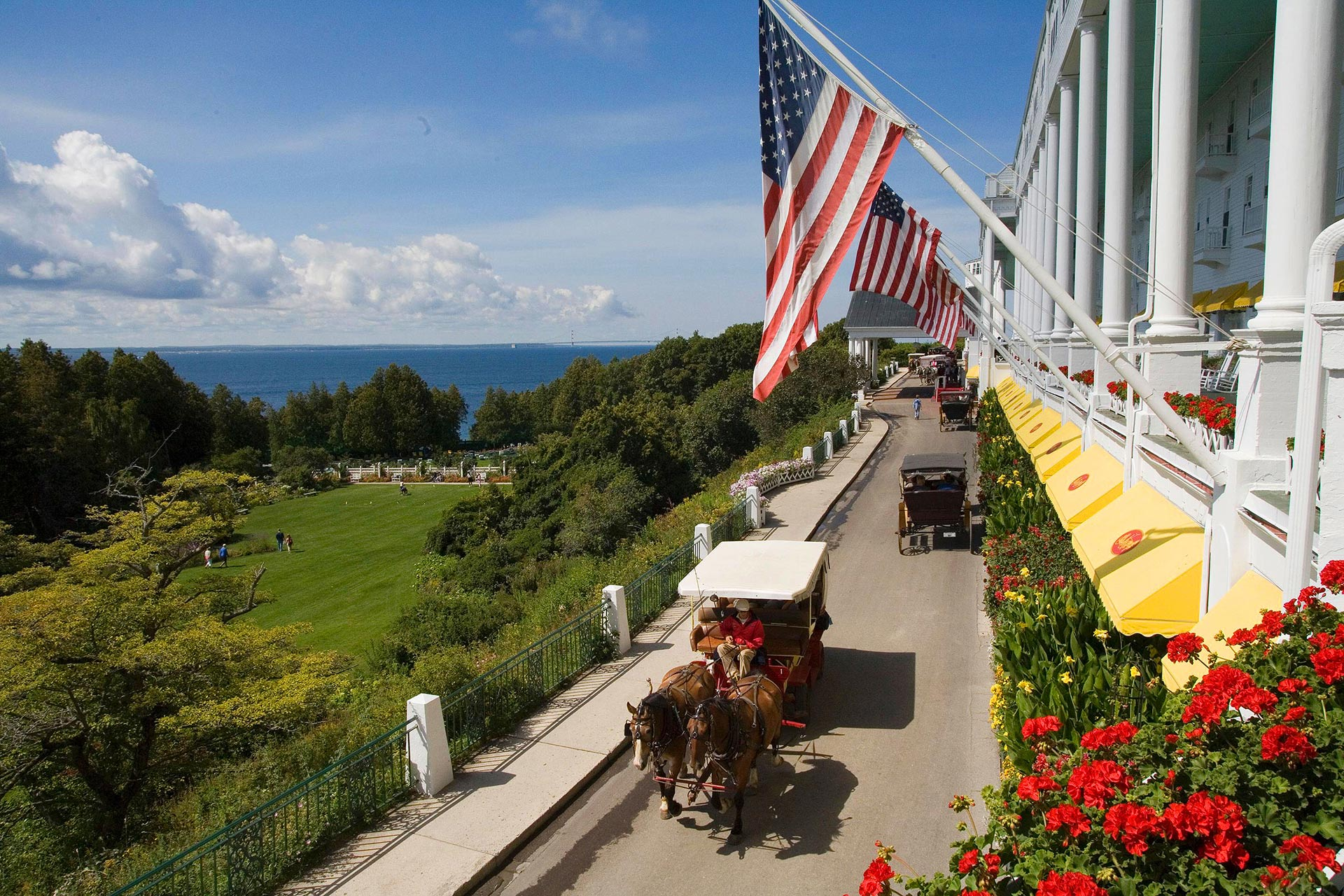 The Grand Hotel on Mackinac Island, Michigan