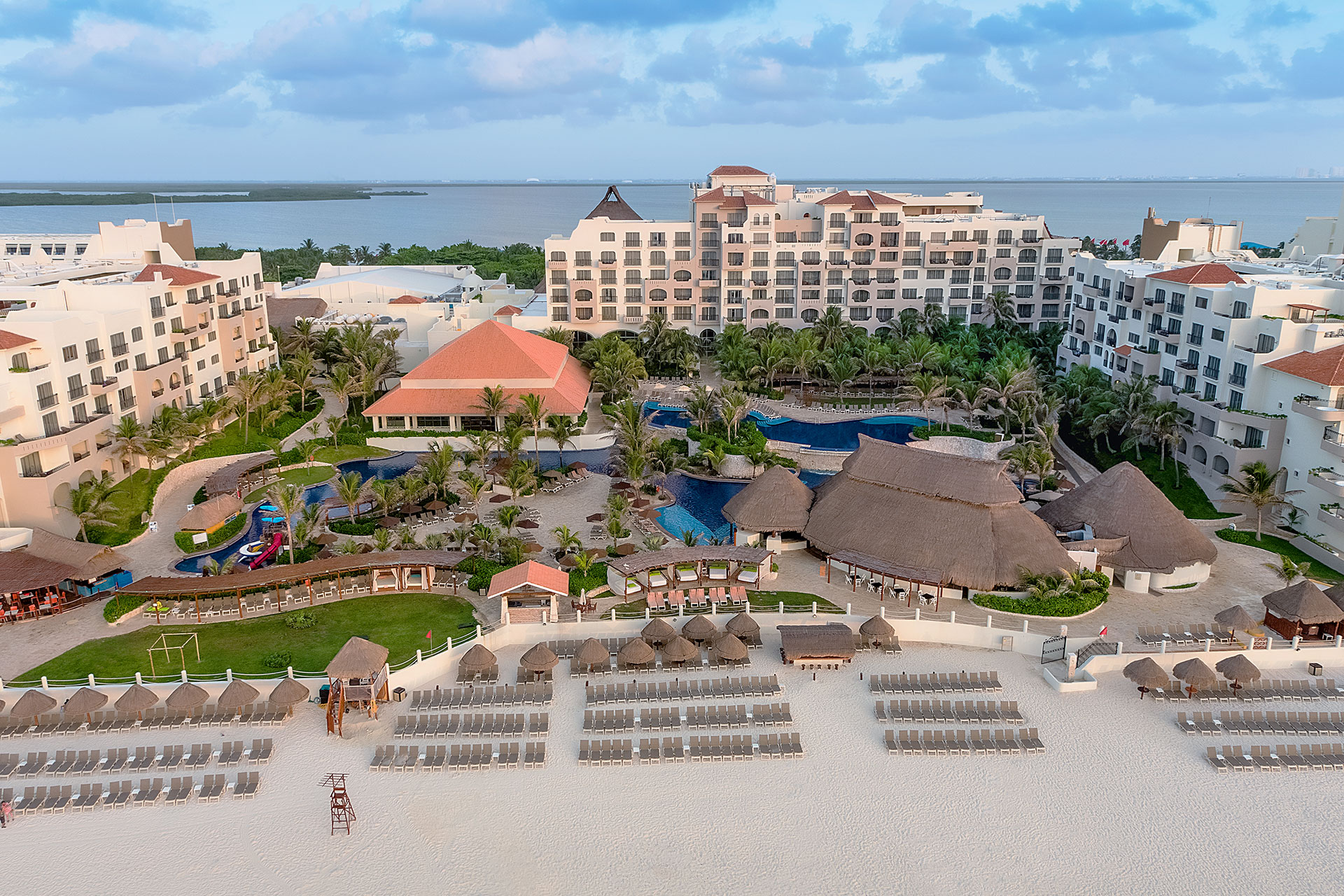 Aerial View of Grand Fiesta Americana Condesa Cancun - Cancun, MX - All Inclusive Resort