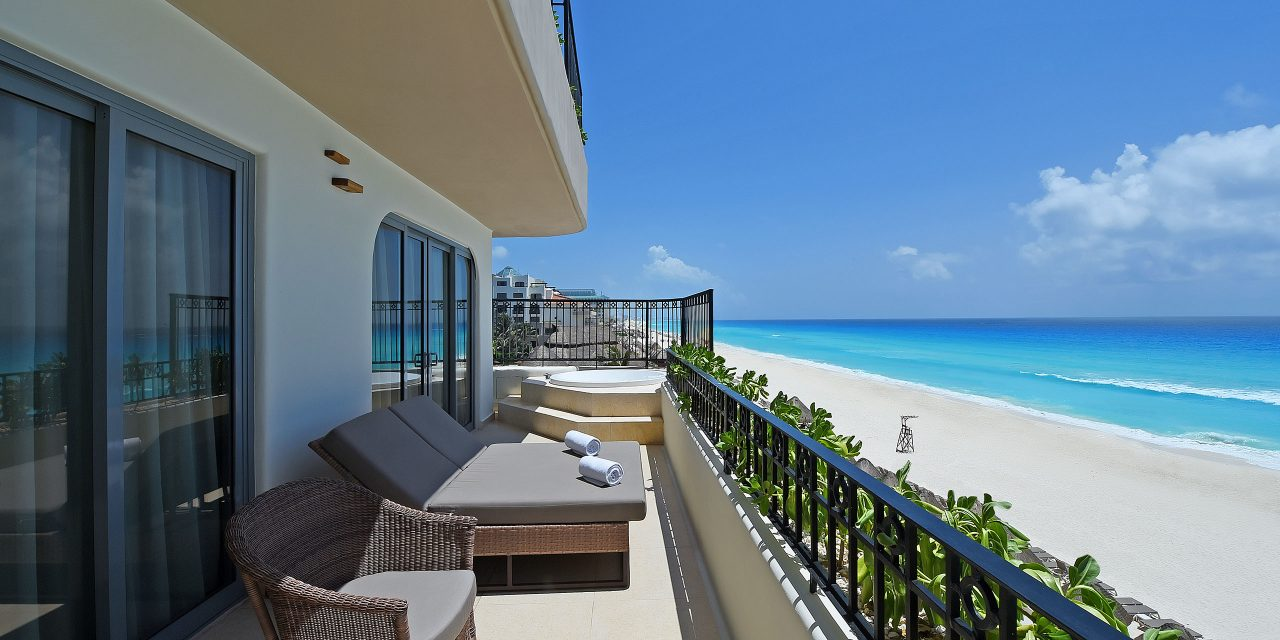 Guestroom Balcony at Grand Fiesta Americana Condesa Cancun; Courtesy of Grand Fiesta Americana Condesa Cancun