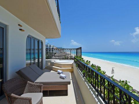 Guestroom Balcony at Grand Fiesta Americana Condesa Cancun; Courtesy of Grand Fiesta Americana Condesa Cancun