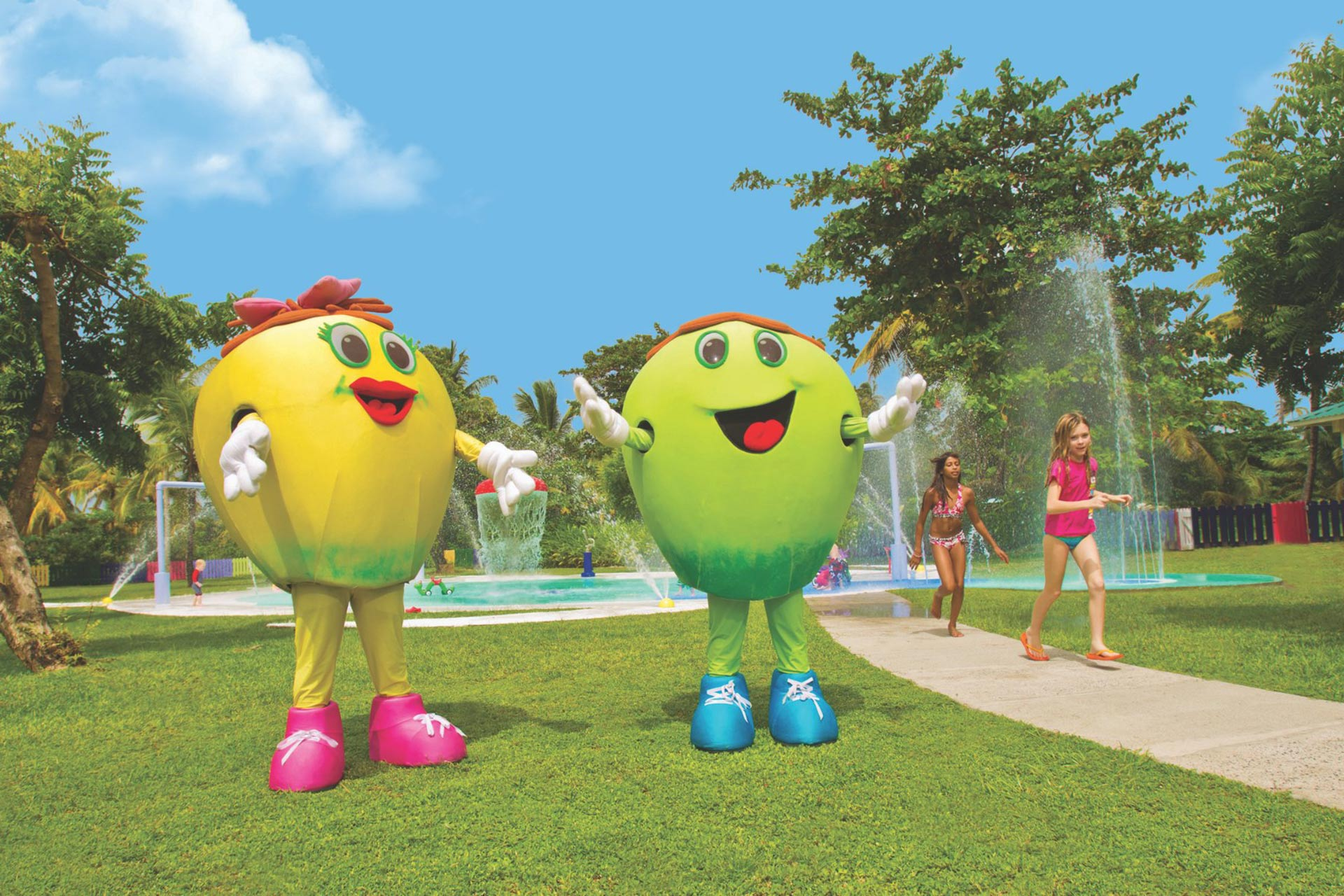Resort Mascots Coco & Loco in the CocoLand Kidz Klub.