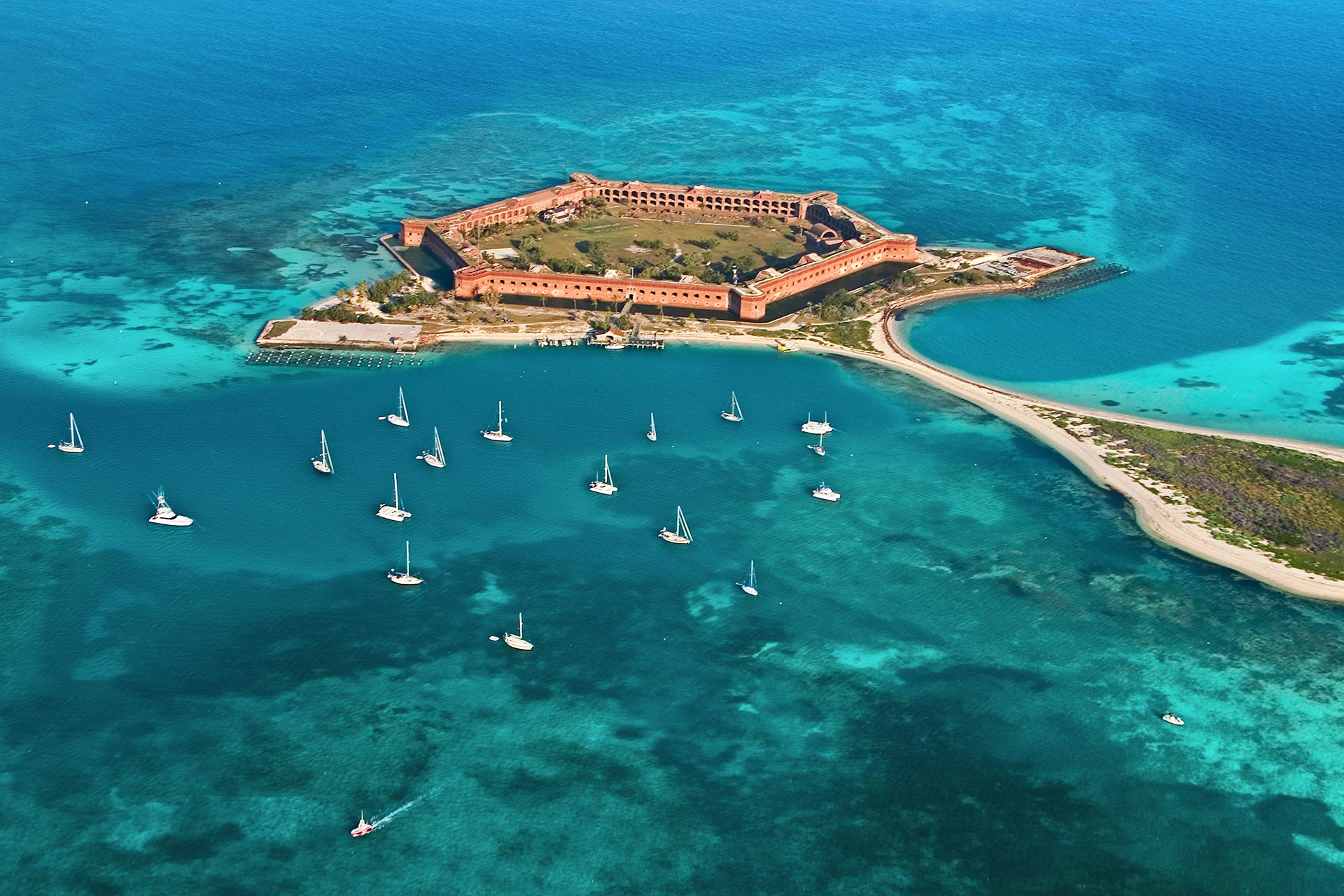 Fort Jefferson at Dry Tortugas National Park off the Florida Keys.