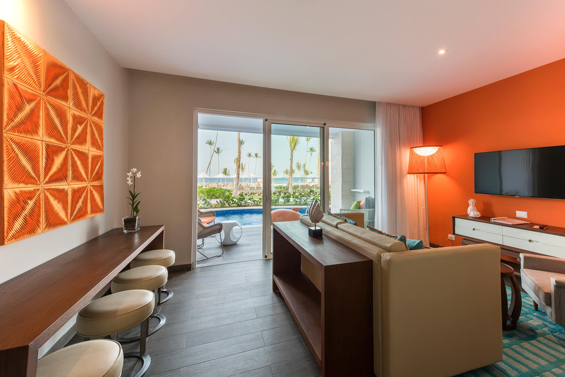 Swim-up suite at Nickelodeon Hotels and Resorts Punta Cana.