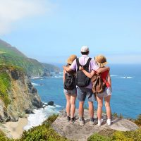 Family in Big Sur, California; Courtesy of Margaret W./Shutterstock.com