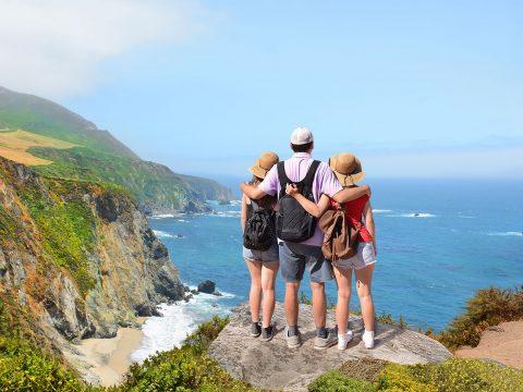 Family in Big Sur, California; Courtesy of Margaret W./Shutterstock.com