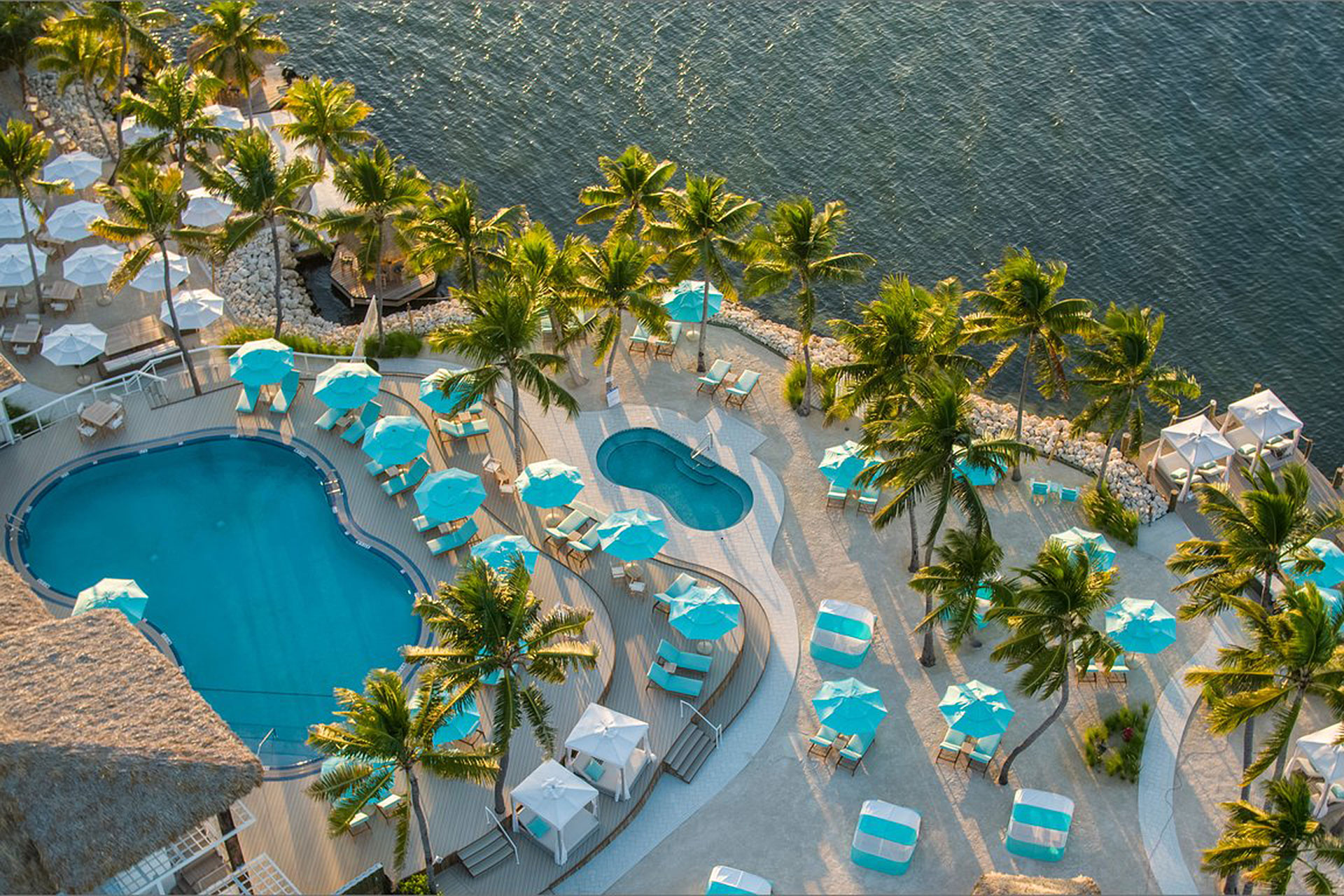 Aerial View of Bungalows Key Largo in Key Largo, FL