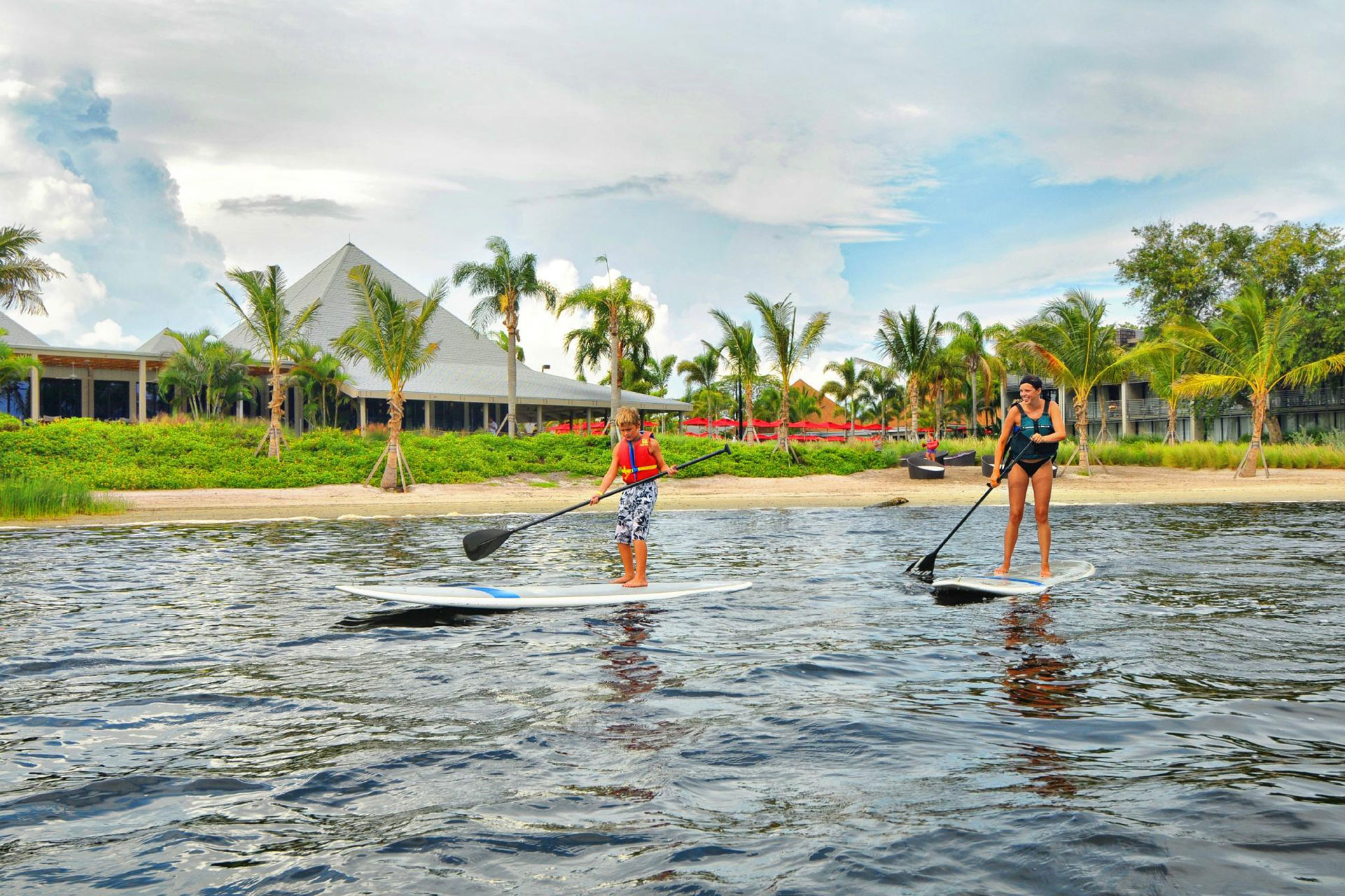 Paddleboarding at Club Med Sandpiper Bay in Florida in Port Saint Lucie
