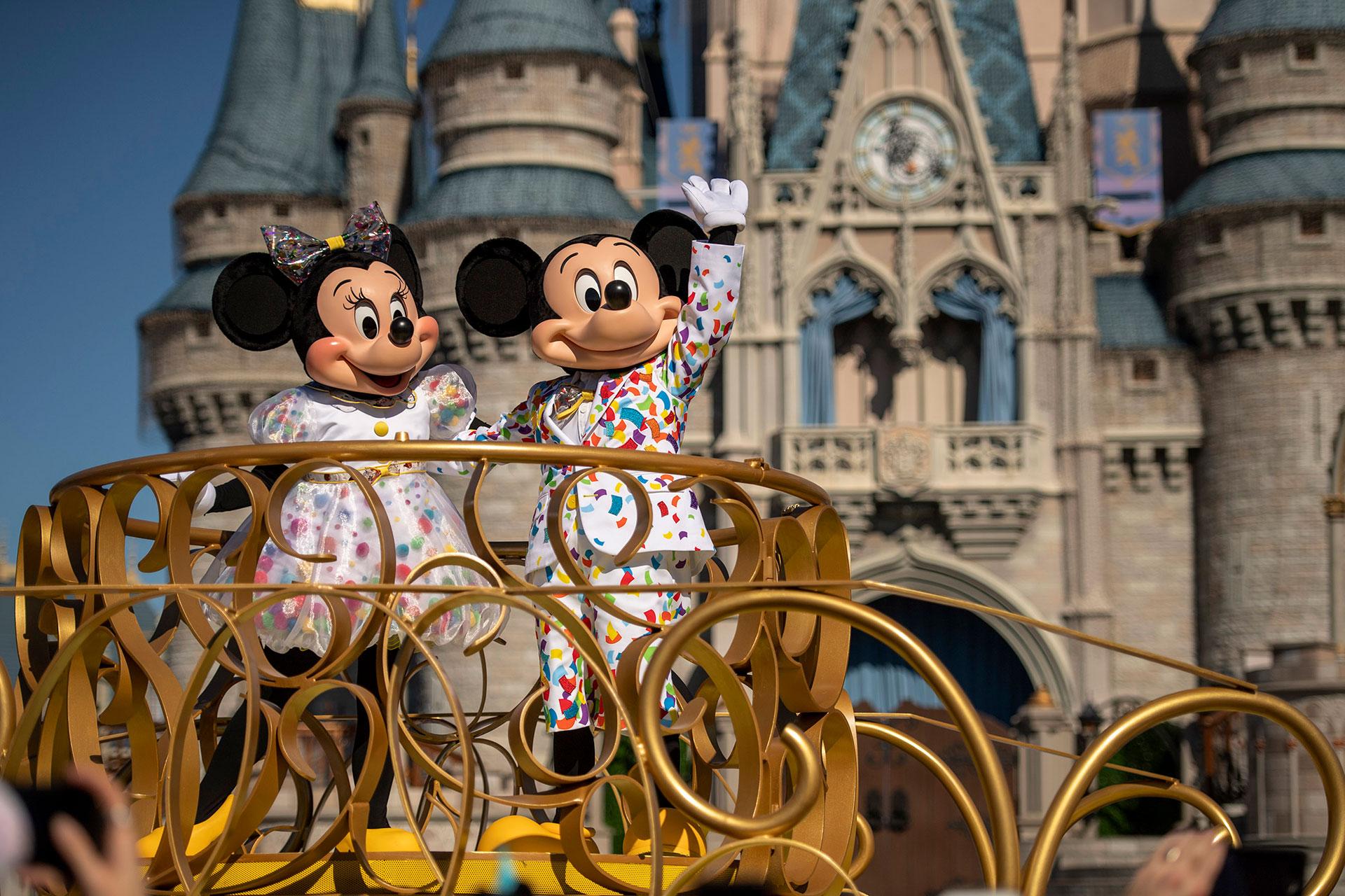 Mickey and Minnie at Disney's Magic Kingdom; Courtesy of Disney