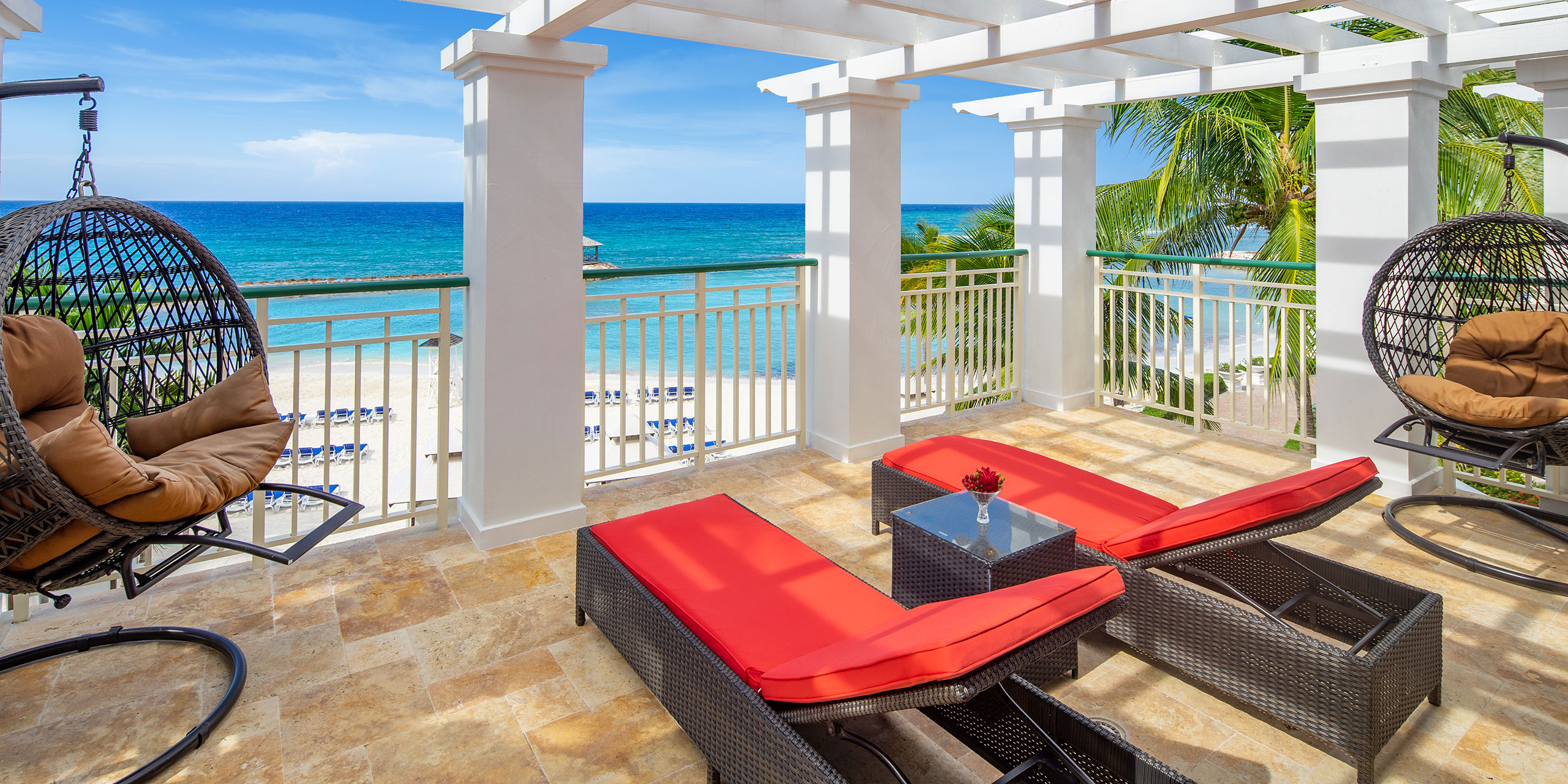 Balcony at Jewel Grande Montego Bay Resort & Spa in Jamaica; Courtesy of Jewel Grande Montego Bay Resort & Spa