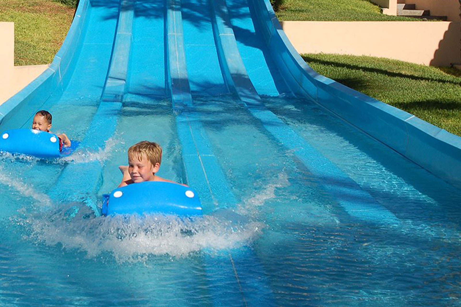 Kids on Waterslide at Royal Solaris Los Cabos; Courtesy of Royal Solaris Los Cabos