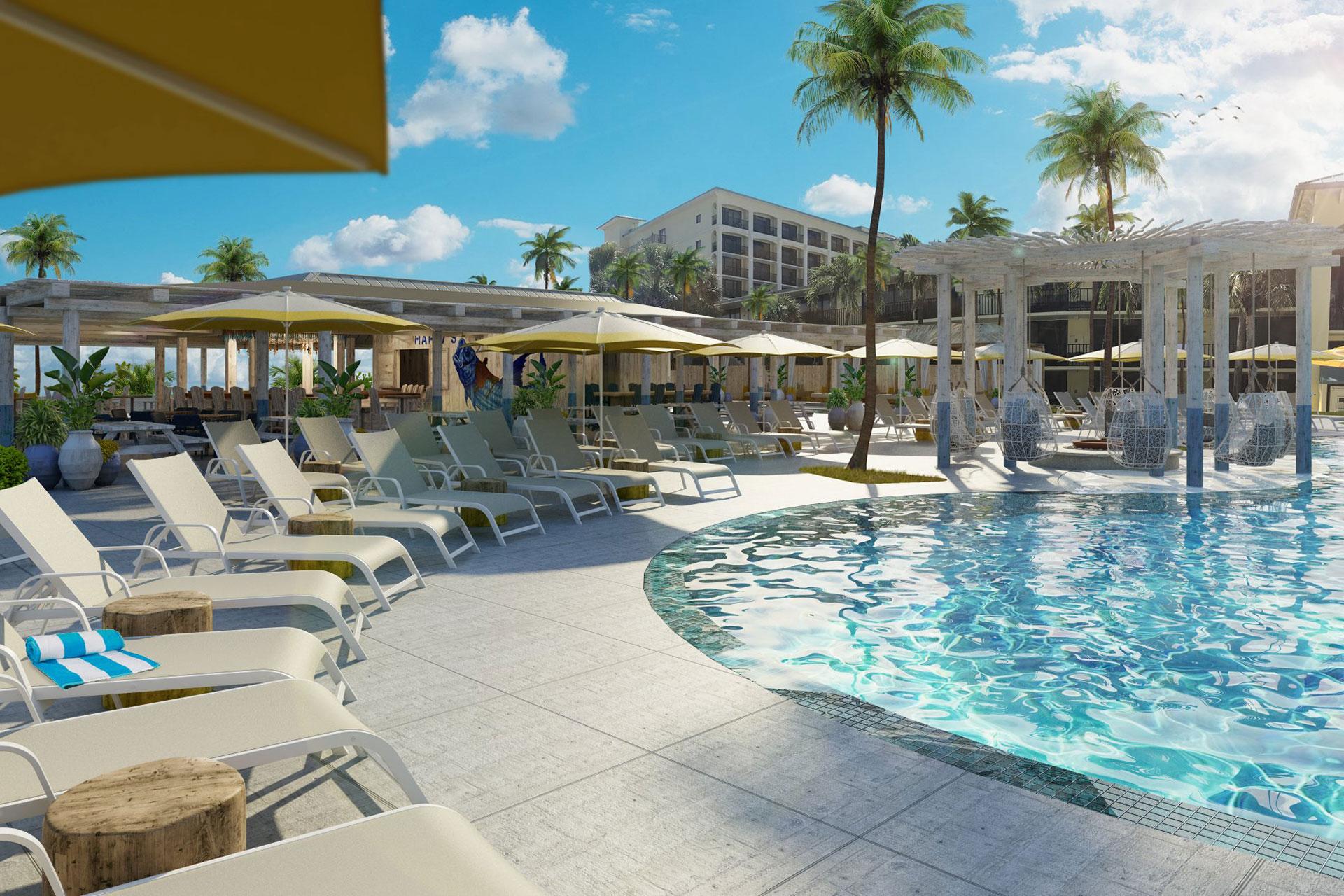 Pool at Sirata Beach Resort in St. Pete Beach, FL