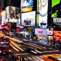 Times Square in New York City; Courtesy of Joe Buglewicz/NYCGo