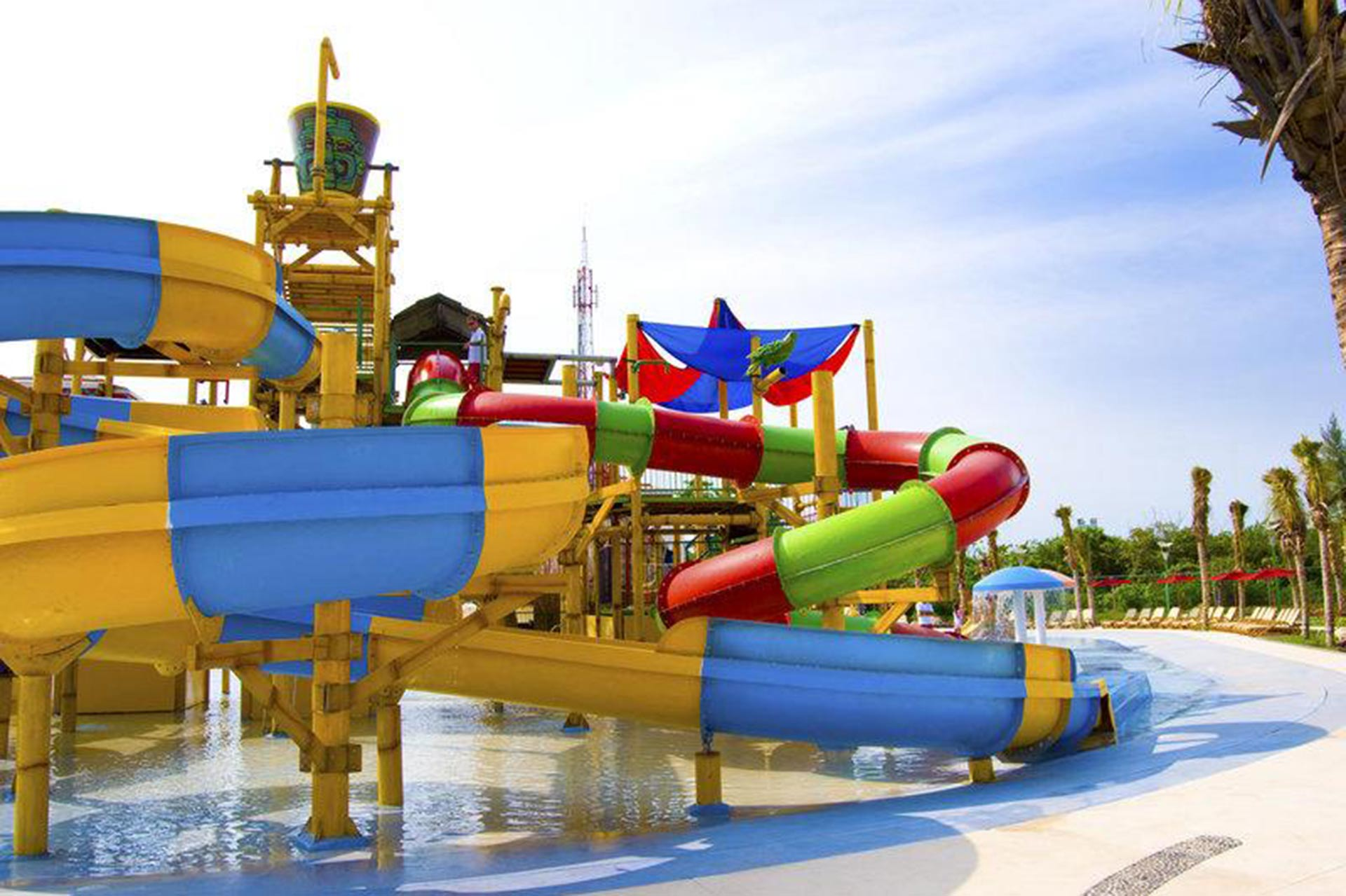 The water park at All Ritmo Cancun Resort & Waterpark