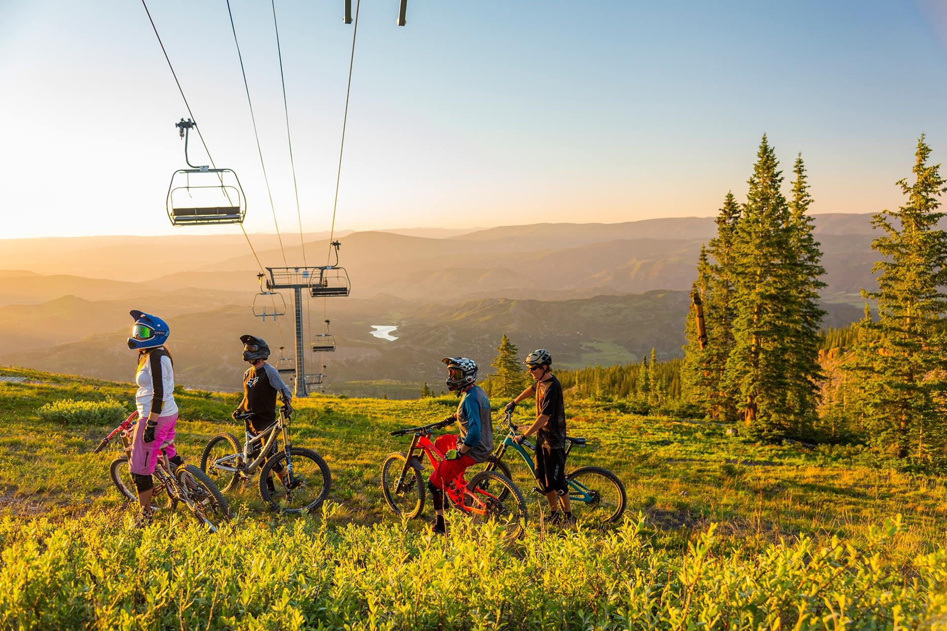 Mountain biking at Aspen in Colorado