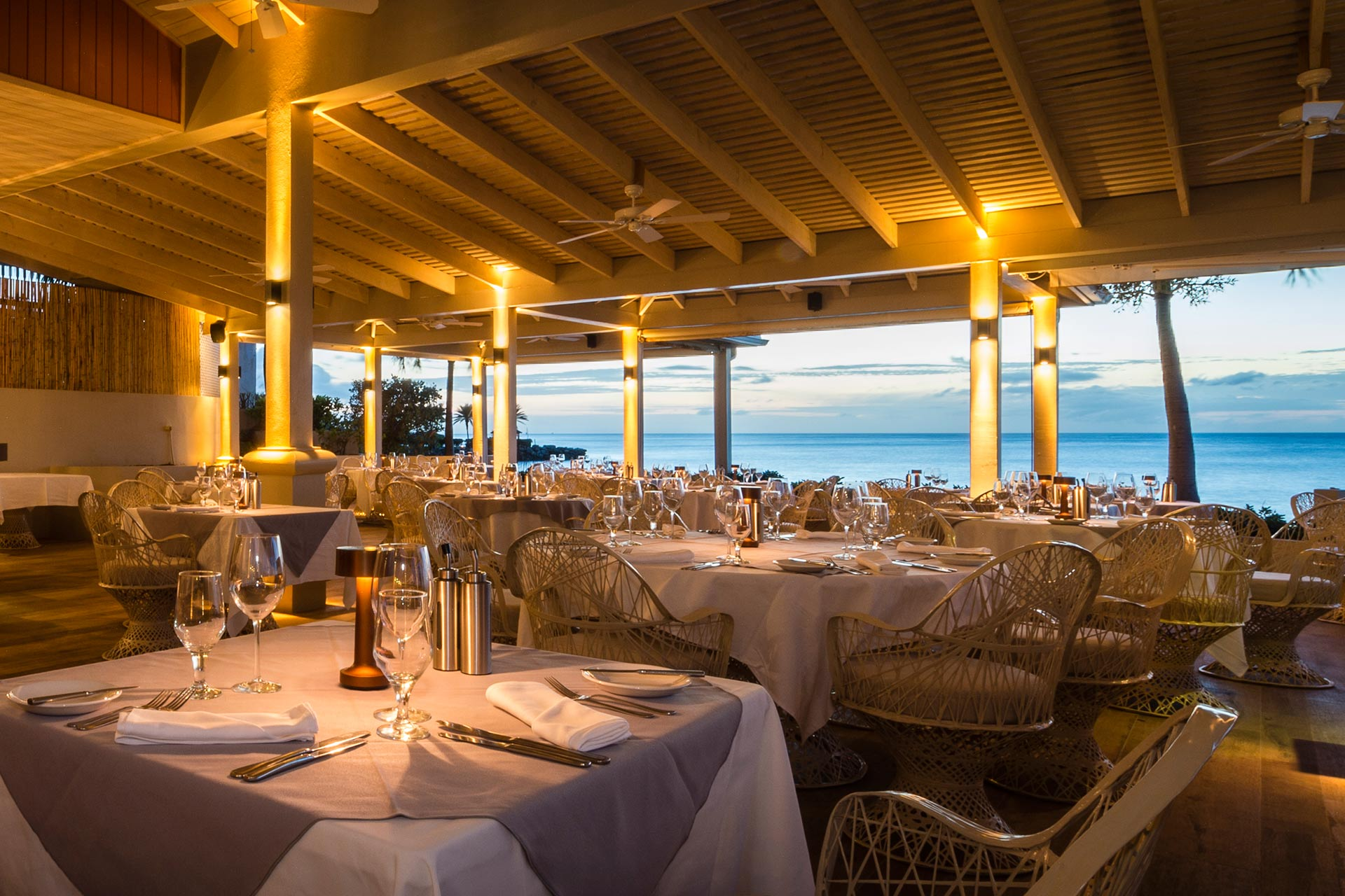 The Cove Restaurant at Blue Waters Resort & Spa in Antigua.
