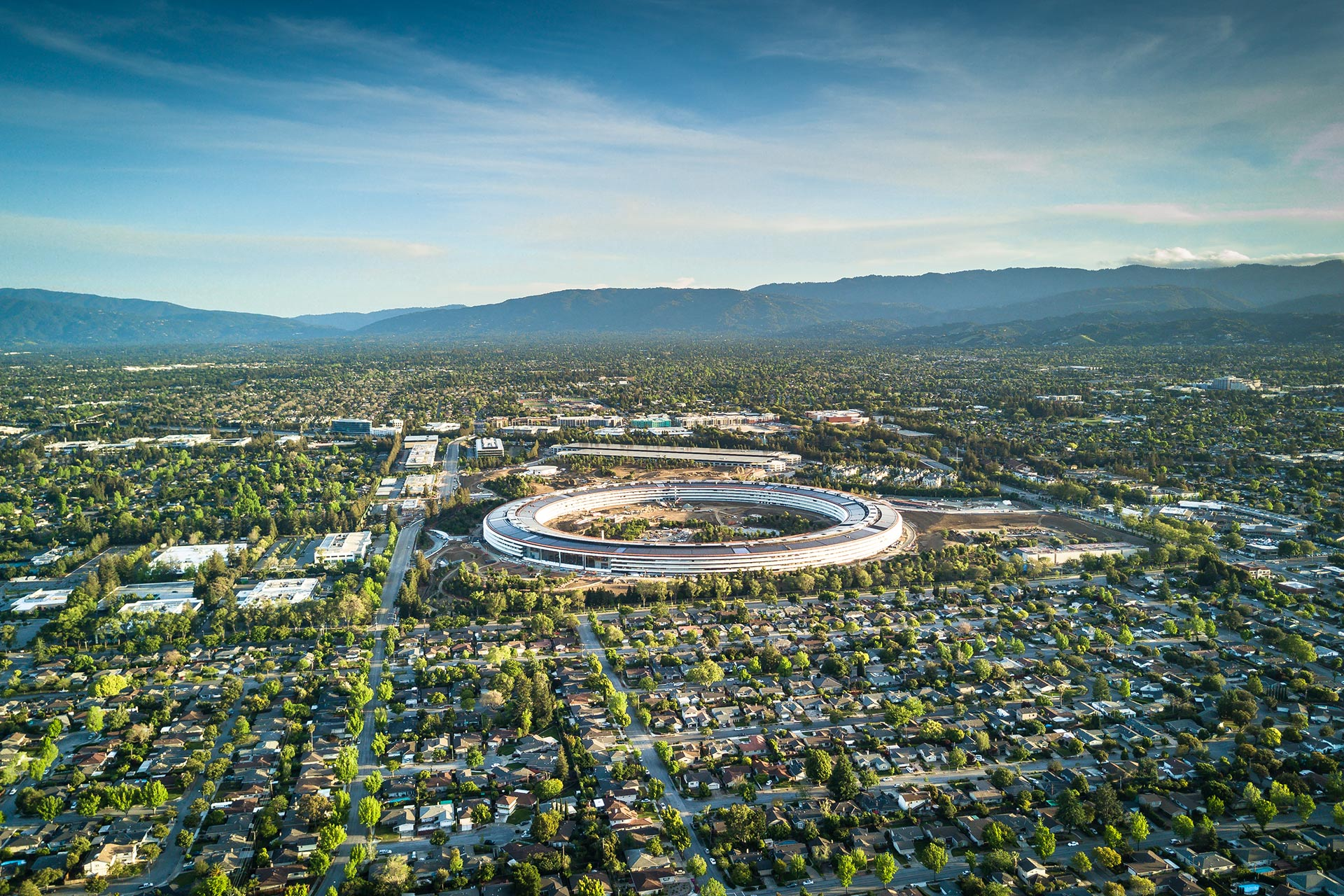 Apple's campus in Cupertino, California