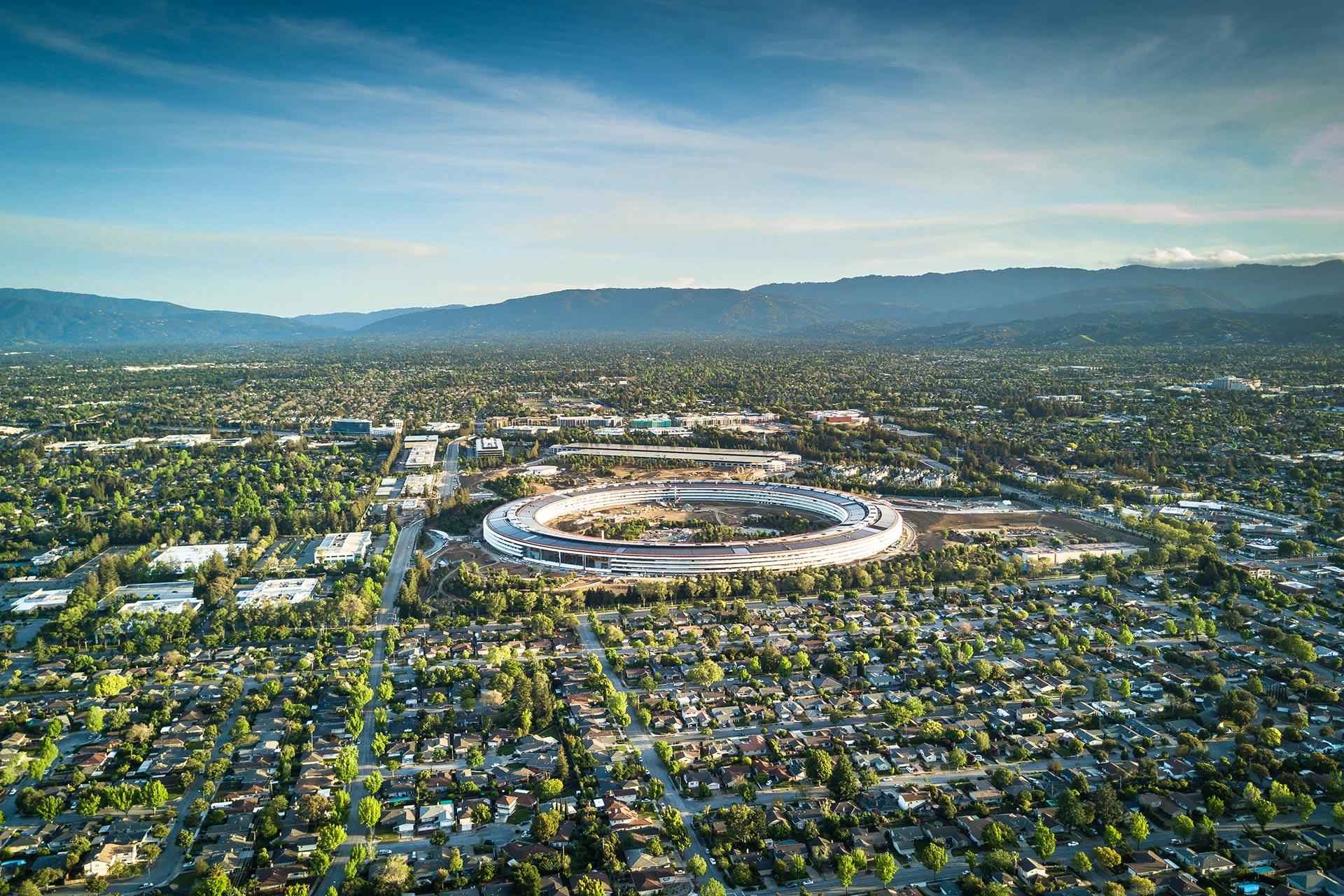 Apple's campus in Cupertino, California