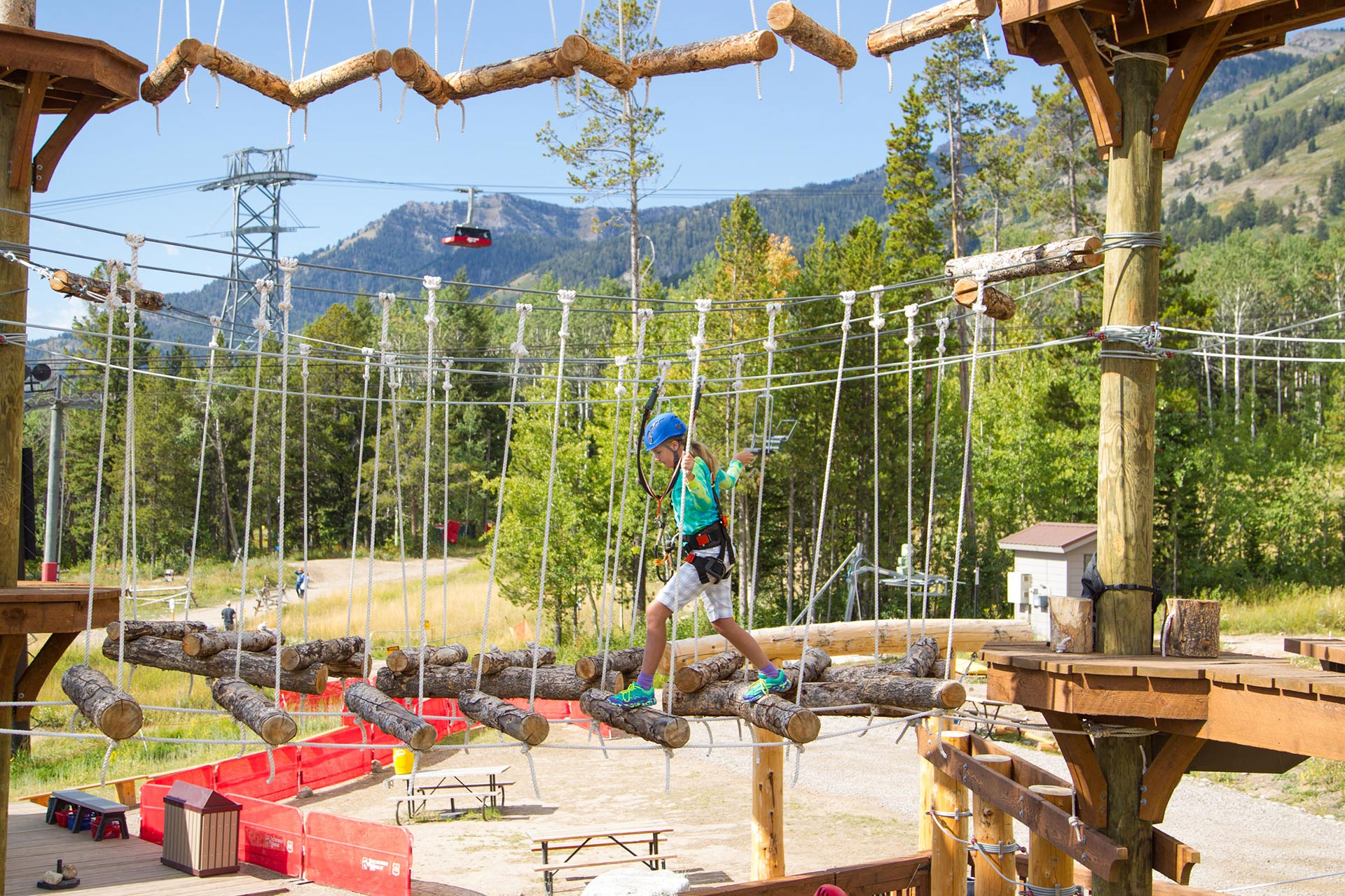 Adventure course at Jackson Hole Mountain Resort in Wyoming