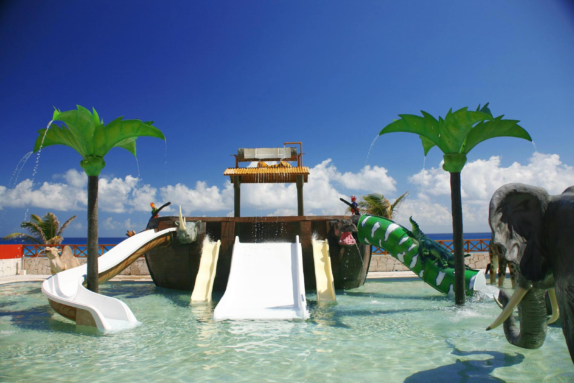 The water park at Royal Solaris Cancun