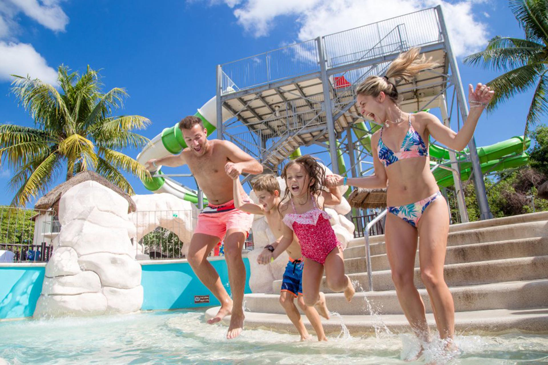 Water Park at Sandos Caracol Eco Resort & Spa in Mexico; Courtesy of Sandos Caracol Eco Resort & Spa