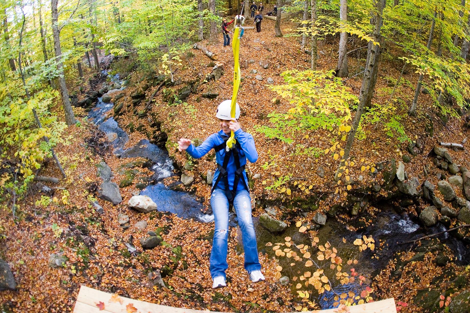 Ziplining at Sunday River Resort in Newry, Maine