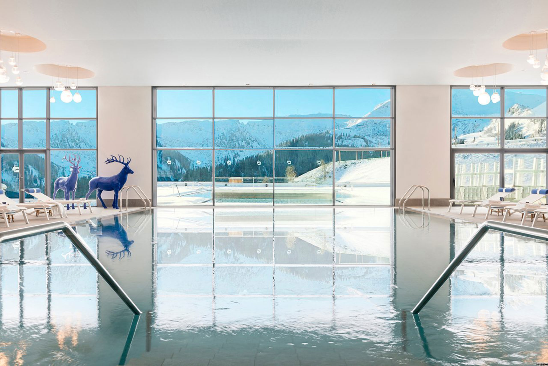 Indoor Pool at Club Med Grand Massif Samoens Morillon; Courtesy of Club Med Grand Massif Samoens Morillon