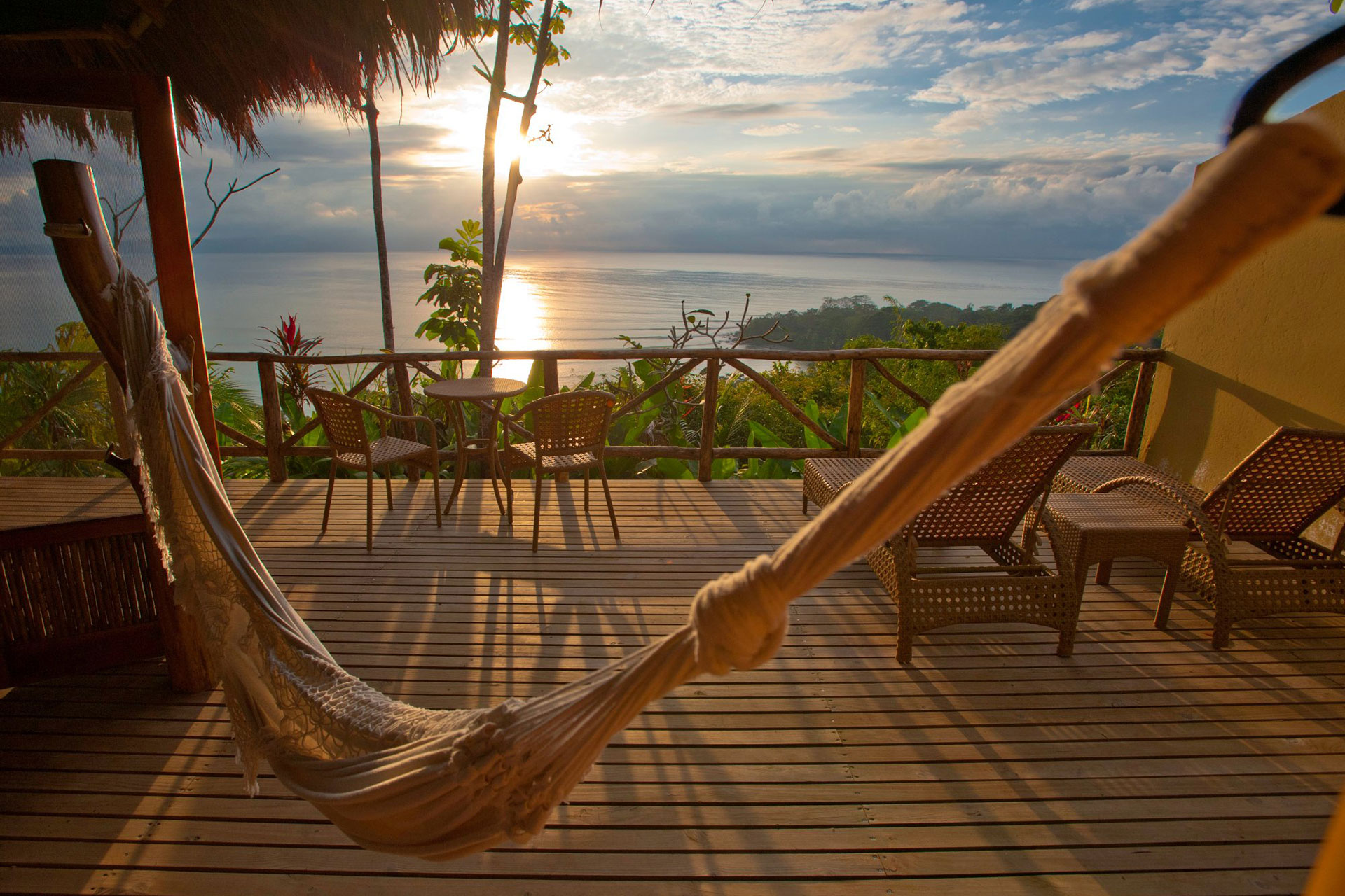 Sunset at Lapa Rios Ecolodge in Costa Rica; Courtesy of Lapa Rios Ecolodge