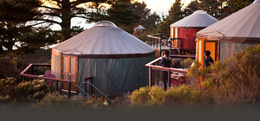 Tents at Treebones Resort in Big Sur California